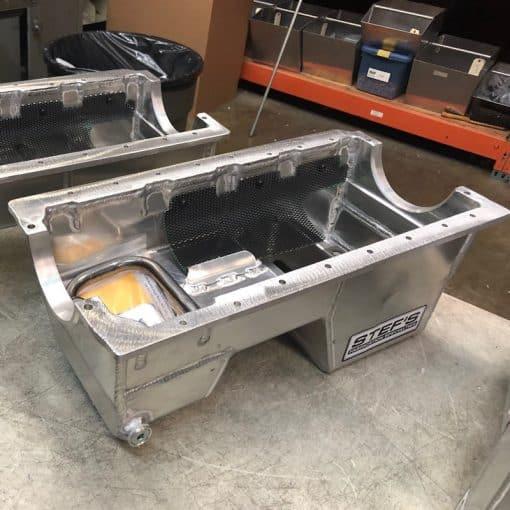 VR1962 SBF Fabricated Aluminum Dual Sump Oil Pan