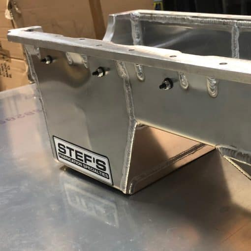 VR1062 SBF Fabricated Oil Pan, Rear Sump View