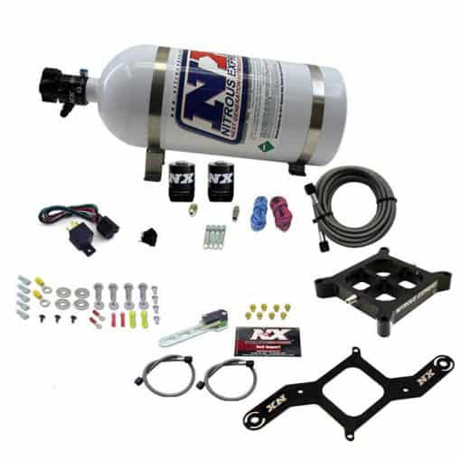 SINGLE ENTRY BILLET CROSSBAR PLATE SYSTEM, 100-500HP (4150 FLANGE) W/10LB BOTTLE