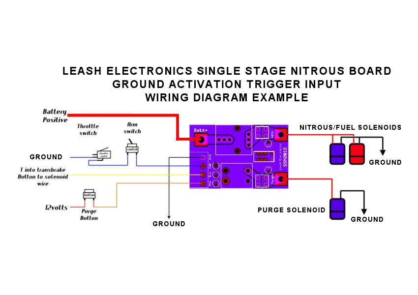 Leash Single Stage Nitrous Relay Board With Transbrake