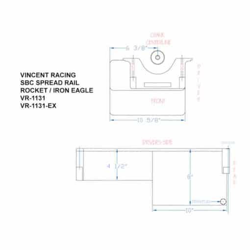 VR-1131 SBC WIDE RAIL OIL PAN